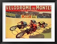 Framed Velodrome du Mont