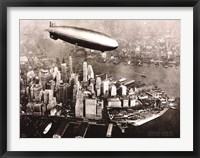 Framed Zeppelin Over New York