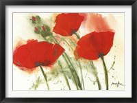 Framed Coquelicots Au Vent I