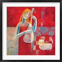Framed Femme Au Luth