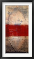 Framed Lignes Rouges I