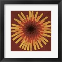 Framed Red Dandelion I - 2002