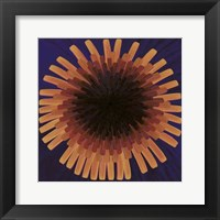 Framed Violet Dandelion II - 2002