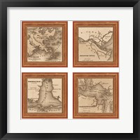 Framed Southern Harbors, 1860
