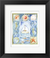 Framed Seaside Boat