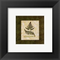 Framed Leather Fern