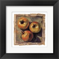 Framed 3 Yellow Apples