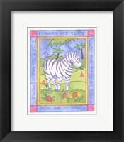 Framed Munching Zebra
