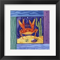 Seafriends-Crab Framed Print