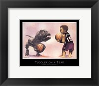 Toddler on a Tear Framed Print
