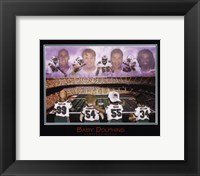 Baby Dolphins - Williams, Seau, Thomas, & Taylor Framed Print