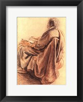 Framed Sepia Man Reading