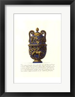 Framed Blue Urn II