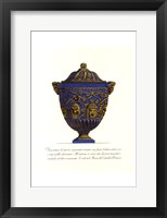 Framed Blue Urn III