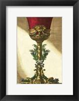 Framed Red Goblet II