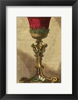 Framed Red Goblet III