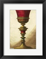 Framed Red Goblet IV