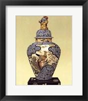 Framed Oriental Blue Vase I