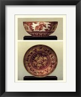 Framed Oriental Bowl and Plate I