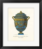 Framed Blue Urn IV