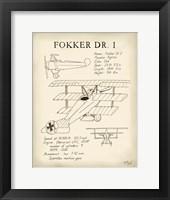 Framed Fokker Dreidecker