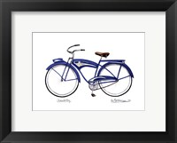 Framed Blue Chantilly