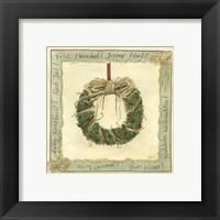 Framed Raffia Wreath I