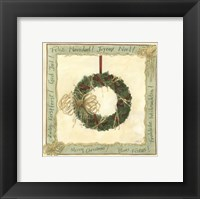 Framed Raffia Wreath II