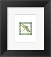 Framed Mini Luminous Dragonfly I