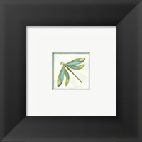 Framed Mini Luminous Dragonfly II