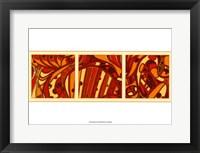 Framed Orange Fission I