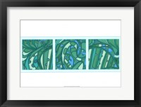 Framed Aqua Fission I