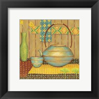 Framed Ginkgo Tea Pot
