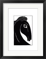 Framed Chevaux d' Femme I