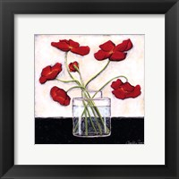 Framed Printed Modern Poppies II