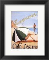 Framed Cote d'Azure