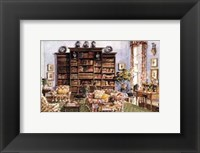 Framed Library Sitting Room in an American Country House