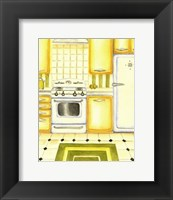 Retro Kitchen II Framed Print