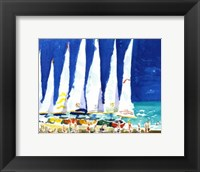 Framed Sailboats on the Beach