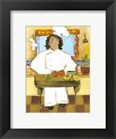 Framed Jolly Mexican Chef