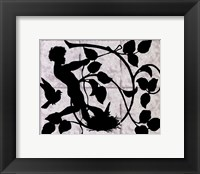 Child Silhouette II Framed Print