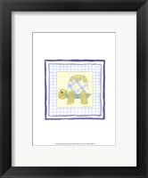 Framed Turtle with Plaid (PP) III