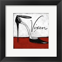 Vixen on Red Framed Print