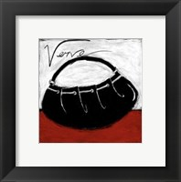 Verve on Red Framed Print