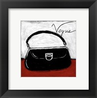 Vogue on Red Framed Print