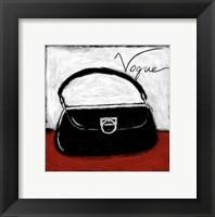 Vogue on Red Framed Print