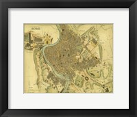 Framed Map of Rome
