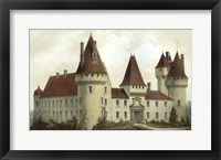 French Chateaux I Framed Print