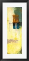 Aquamarine Aura V Framed Print