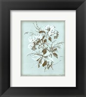 Framed Hydrangea on Blue